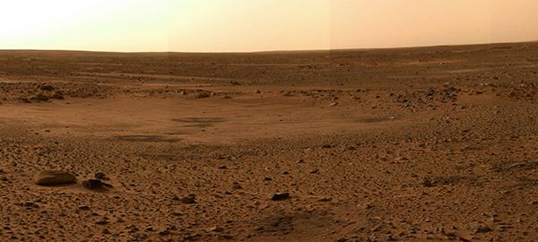 superficie di marte dal rover curiosity della NASA