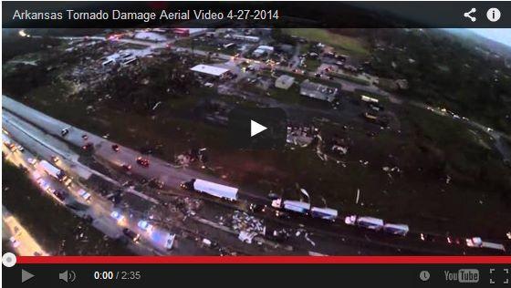 Tornado colpisce Arkansas, centinaia le case distrutte