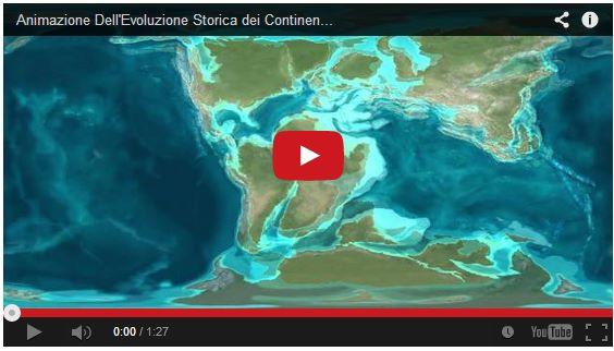 Evoluzione dei continenti e delle placche tettoniche
