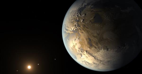 Ricostruzione artistica del pianeta Keplero 186f