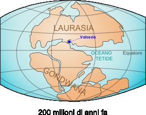 terra 200 milioni di anni fa